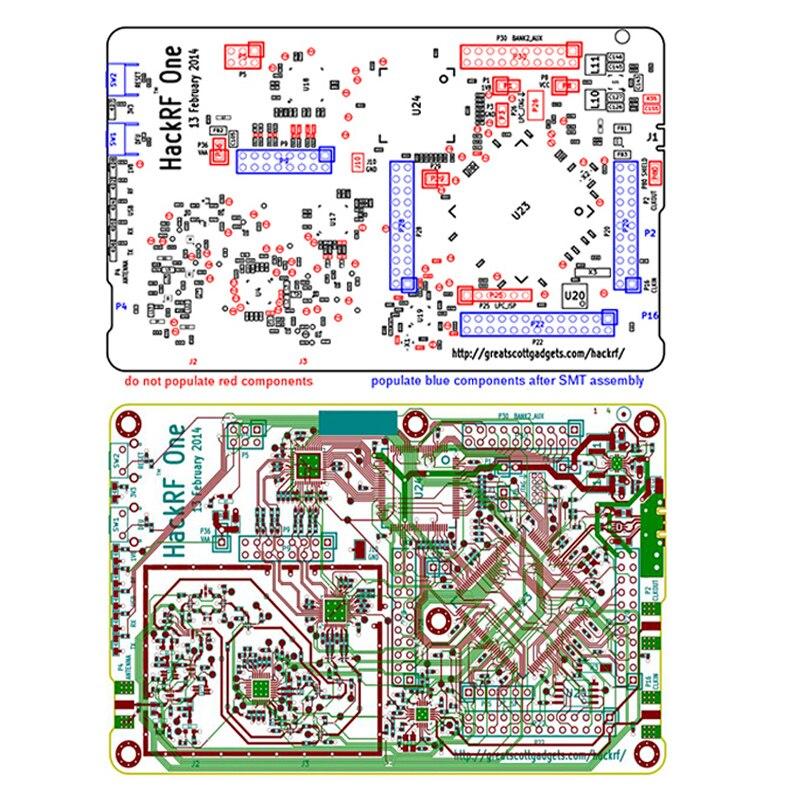 Hackrf um 1 mhz a 6 ghz software de código aberto placa desenvolvimento da plataforma de rádio kit placa demonstração rtl sdr dongle receptor rádio presunto - 6