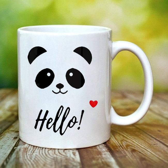 Cute Panda Coffee Mugs Ceramic Tea Mug