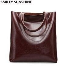 Inek deri çanta bayan hakiki deri çantalar büyük kadın çantası büyük Vintage kadın 2020 ofis el omuz çantaları için kadın büyük el çantası