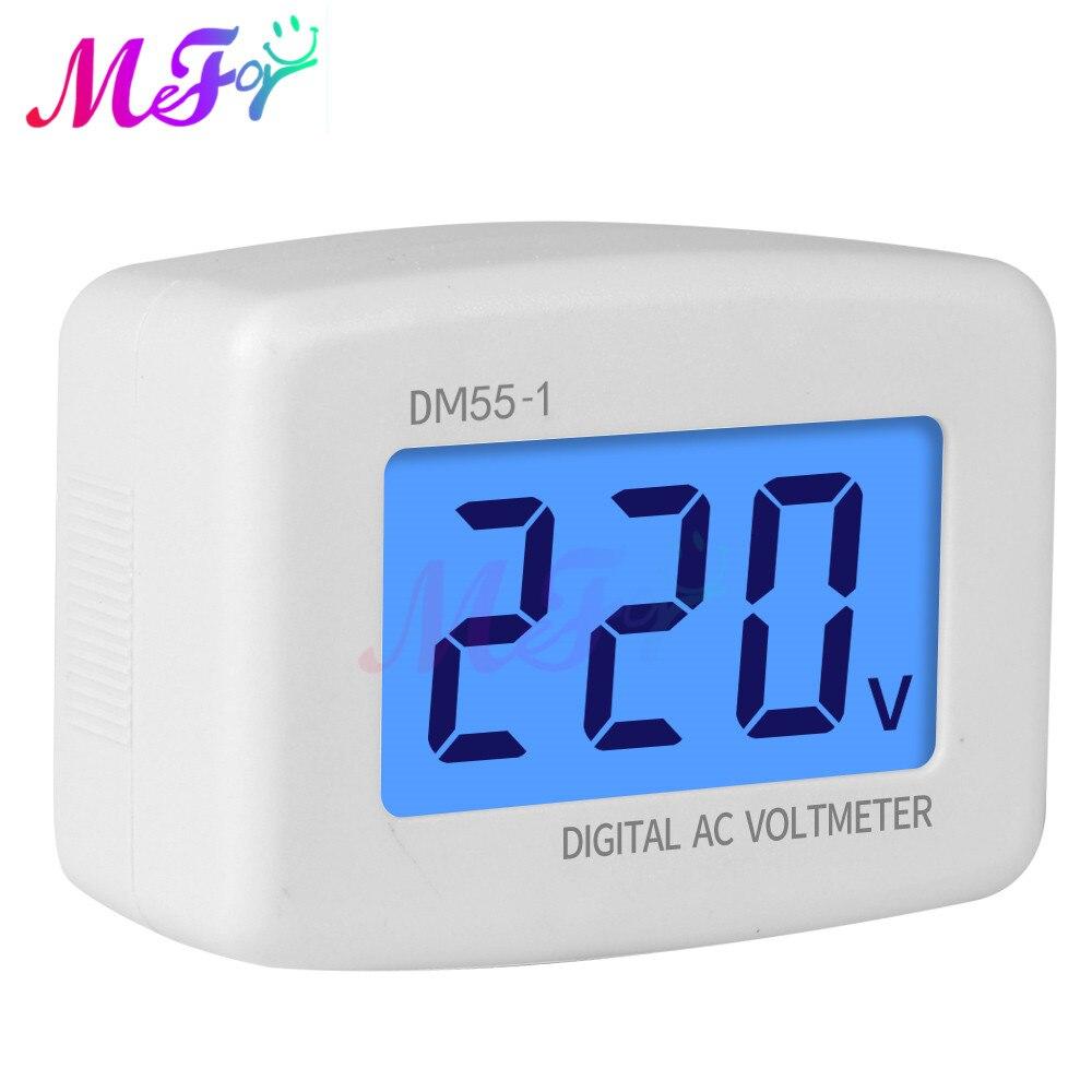 Цифровой вольтметр переменного тока 80-300 В с ЖК-дисплеем, штепсельная вилка Европейского/американского стандарта, измеритель напряжения, те...