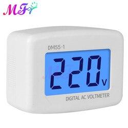 AC 80-300V LCD Digital AC Voltmeter EU/US Plug Volt Meter Socket AC Voltage Tester Meter Header 110V 220V