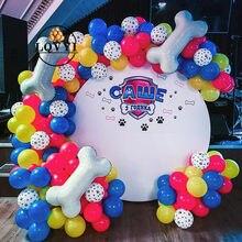 75 pçs animais de estimação pata do cão balões de látex ossos do cão tema animal festa decoração crianças brinquedos clássicos globos hélio ar inflável bolas fornecimento