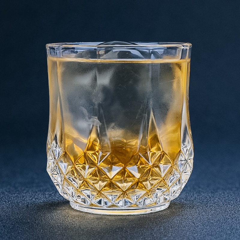 200ml Classic Whisky Glass Carved Glass Cup Vintage Vodka Cocktail Wine Glass Mug Bar Household Drink with Flat Bottom Glass image