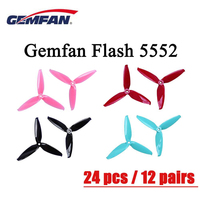 24 Pcs / 12 Pair Gemfan Flash 5552 3 Blade 5 Inch PC Propeller CW CCW Prop Compatible for FPV Racing Drone Frame VS Gemfan16%off|Parts & Accessories| |  -