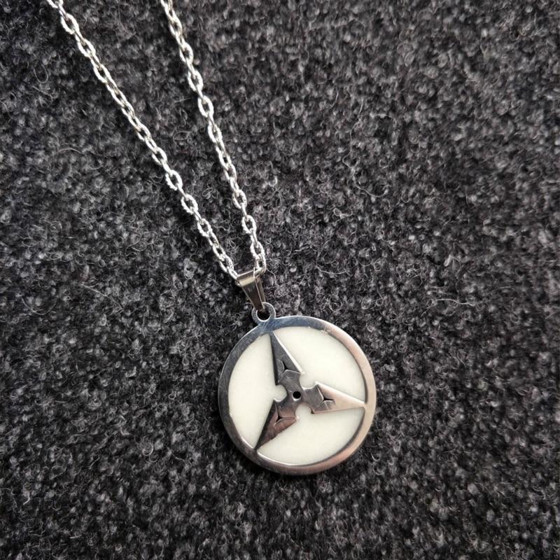 in vintage silver color N340 Dragon Necklace