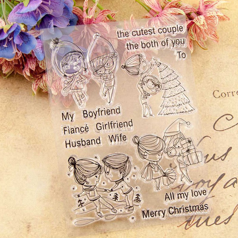Transparent Clear Silicone Stamp And Cutting Dies DIY Scrapbooking Photo Album Decorative Card Making