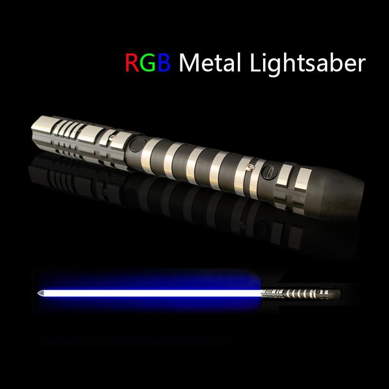 RGB Lightsaber Sabre De Luz Toys Kpop Lightstick Espada Luminous Oyuncak Sword Light Saber Brinquedos Laser Juguetes Brinquedo