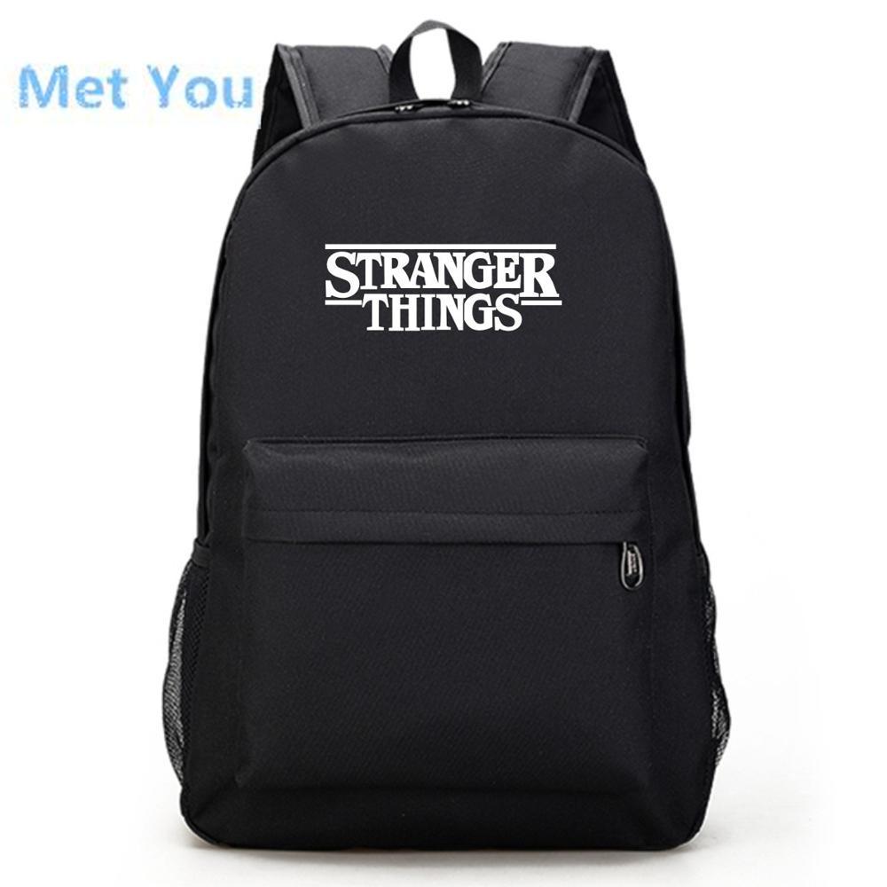 Black School Backpack /& Pencil Bag Set Monkey Punk Brick Wall Print