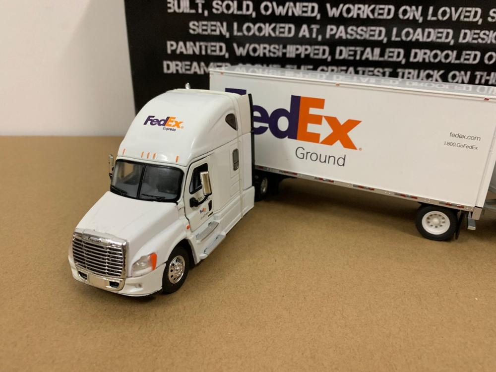 Tonkin réplicas modelo de caminhão de metal collectible fedex terra 1:53 caminhão freightli - 3