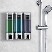 Seife Dispenser Wand Montiert Shampoo Flaschen Triple Waschmittel Dusche Gel Spender 300ml Kunststoff Home Hotel Bad Zubehör