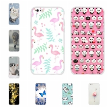 For Apple iPhone 5 5s SE Case Slim Soft TPU Silicone 6 6s Cover Cartoon Patterned Capa