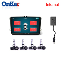 ONKAR Android USB Tire Pressure Monitoring System plug and play Car DVD Player GPS Navigation with 4 Internal Sensors USB TPMS large size screen monitors car tire pressure monitoring system car tpms usb connecting android dvd mp5