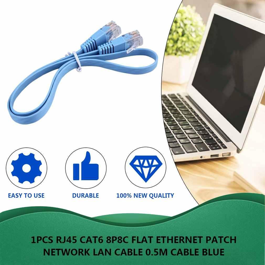 1 pièces RJ45 CAT6 8P8C plat Ethernet Patch réseau Lan câble divers longueur 0.5 M/1 M/2 M/3 M/5 M/10 M câble bleu livraison directe