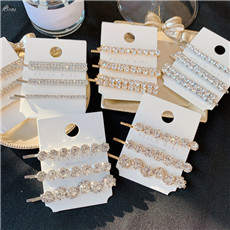 AOMU-1SET-Geometric-Round-Rectangle-Crystal-Hair-Clips-Shiny-Rhinestones-Gold-Silver-Hairpins-Hair-Accessories-for
