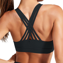 2020 Fitness Sports Bra for Women Push Up Solid Cross Back Yoga Running Gym Training Workout Femme Padded Underwear Crop Tops