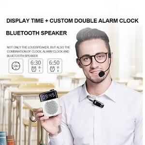 Image 2 - SOAIY S528 מגבר קול נייד מיני Bluetooth מגפון אלחוטי/קווית LED שעון מורה סיור מדריך מיקרופון רמקול