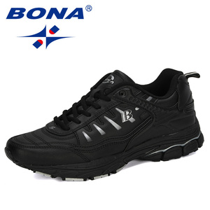 Image 2 - BONA 2019 New Designer Outdoor Men Running Shoes Cow Split Jogging Walking Sports Shoes Lace Up Athietic Sneakers Man Trendy
