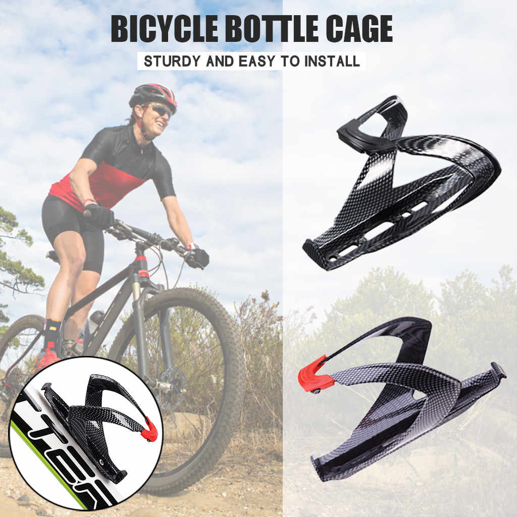 Carbon Fiber Cycling Bicycle Bike Drink Water Bottle Cup Holder Mount Cage Black