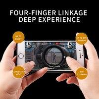 ミニ火災ボタンゲームパッド金属トリガーゲームコントローラ電話ゲームパッドトリガー目的キーL1 R1シューターコントローラフィットpubg