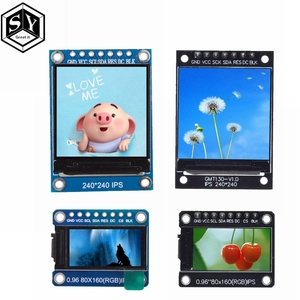 GREAT IT TFT Display 0.96 / 1.3 inch IPS 7P SPI HD 65K Full Color LCD Module ST7735 Drive IC 80*160 (Not OLED) For Arduino