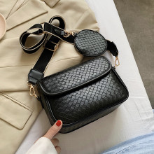 New Weaving PU Leather Crossbody Bags for Women 2020 Handbags and Purses Female Summer Travel Crossbody Shoulder Bag