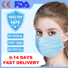 50 Pcs Disposable Face Mask Meltblown Cloth Protective Mouth Mask 3 Layer Non Woven Anti Dust Mask Earloops Face Masks kimberly clark childs face mask w stretchable earloops 75 box latex free