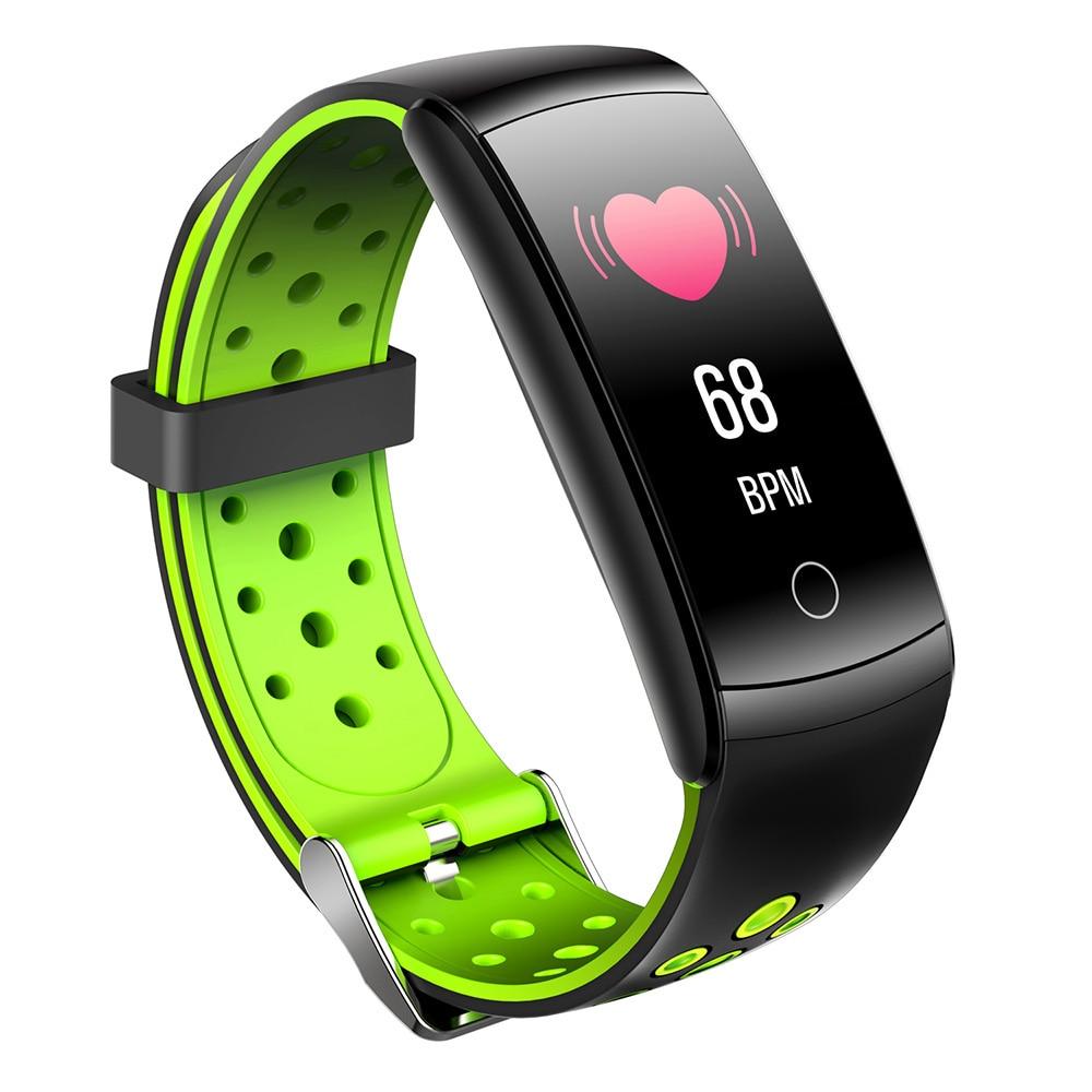 Monitor de Monitoramento de Freqüência Ip68 à Prova Esportes Pulseira Smartband Fitness Inteligente Tela Colorida Dip68 Água Dinâmica Cardíaca Relógio