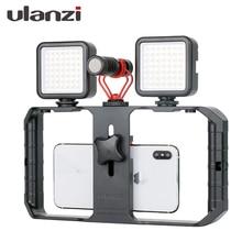 Ulanzi U RIG Pro สมาร์ทโฟนวิดีโอ RIG มือถือ Vlogging Filmmaking Stabilizer 1/4 สกรูยึดสำหรับ iPhone xiaomi