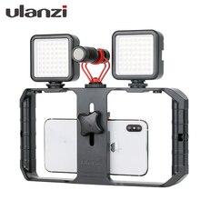 Ulanzi u rig pro ferramenta de vídeo de celular, equipamento de vlogging para smartphone, estabilizador com 1/4 parafusos, montagem de sapatos frios para iphone xiaomi xiaomi compatível com xiaomi,