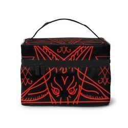 Дорожная косметичка модная дамская косметичка Baphomet и Lucifer сумки для хранения большая емкость женская косметичка