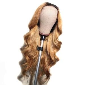 1BT27 Омбре объемная волна человеческие волосы полностью кружевные парики для женщин бразильские Remy Предварительно выщипанные отбеленные ко...