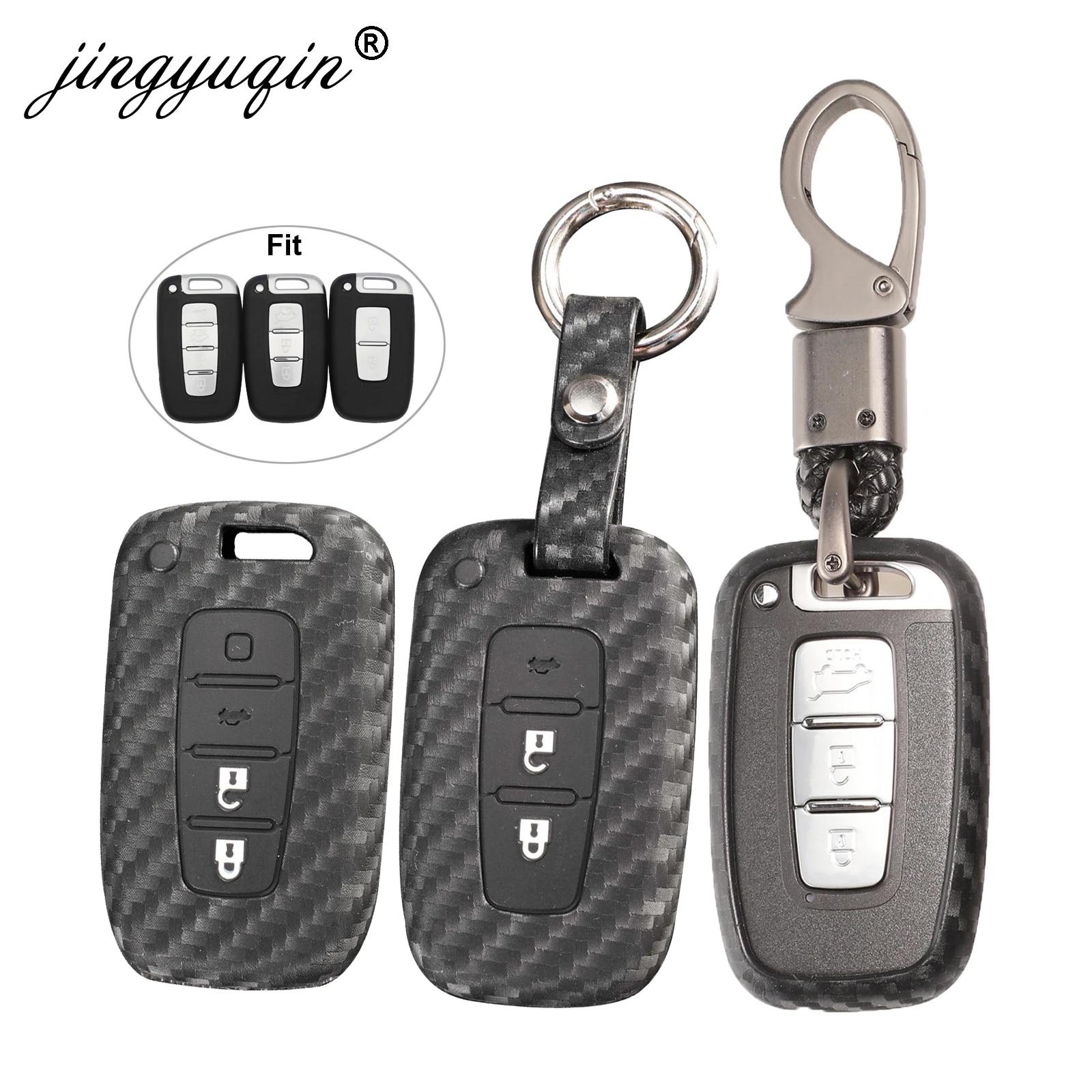 Hyundai flip Key Royalfox Black Silicone Carbon Fiber Style flip keyless Remote Key Fob case Cover for Kia K5 K2 Sportage Rondo Soul Rio Optima//Magentis//Lotze Hyundai Elantra Verna i20 i30 i35 TM