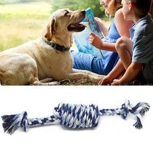 Puppy Braided Dog Toy Rope Ball Knot Funny Tool Durable Cotton Chew Teeth Cleaning Non Toxic