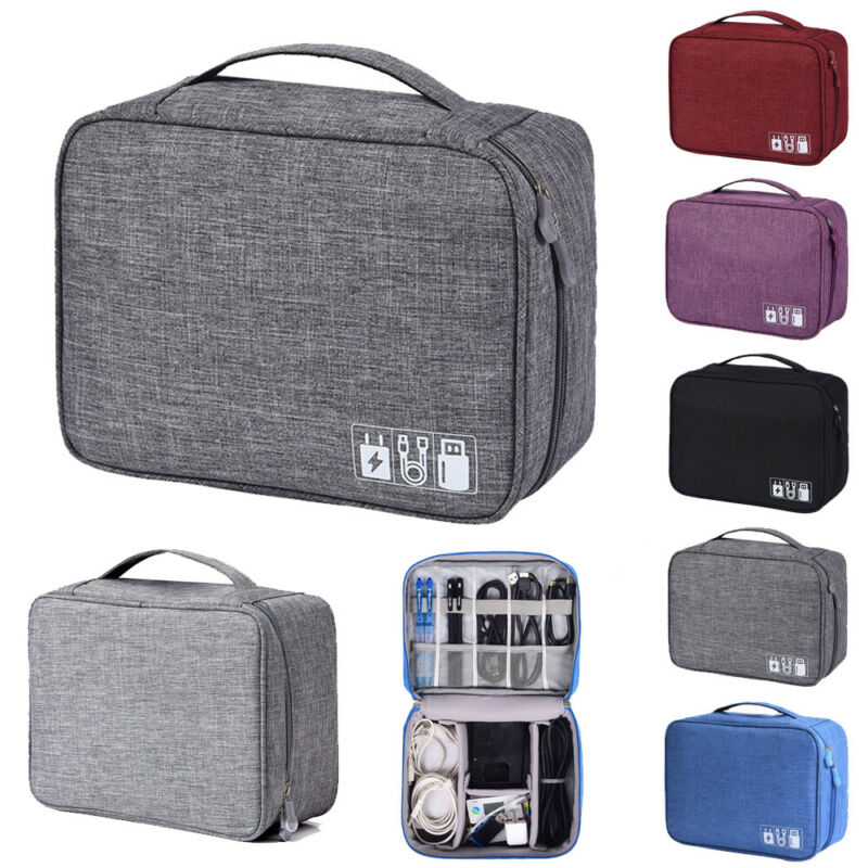 Electronics Accessories Organizer Storage Bags Waterproof Zipper Multi-layer Soft And Shockproof Travel Cable Drive Storage Bag