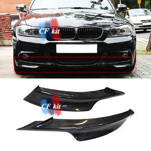 CF Kit Carbon Fiber Front Splitters Apron Lip Flats Fits For BMW E90 LCI 2009-2011 Protector M Tech Front Bumper Lip Car Styling