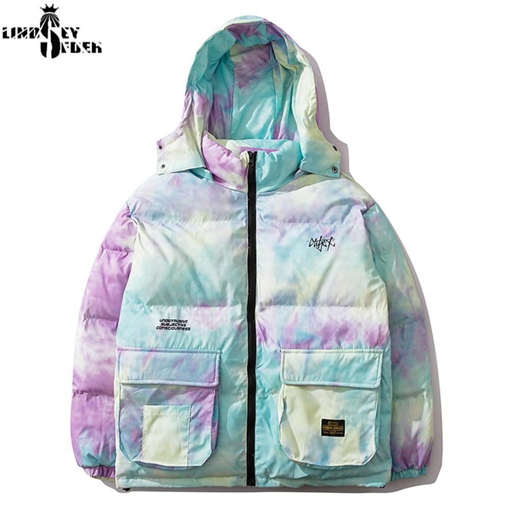 Lindsey Seader Mulit Pockets Colorful Camouflage Hooded Parkas Streetwear Harajuku Winter Casual Cotton Pad Thick Jackets Coats