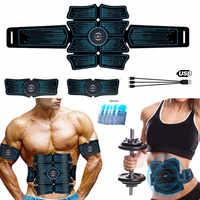 ABS Trainer Drahtlose Bauch Muscle Stimulator EMS Smart Fitness Training Elektrische Massager Körper Abnehmen Gürtel USB Aufladen