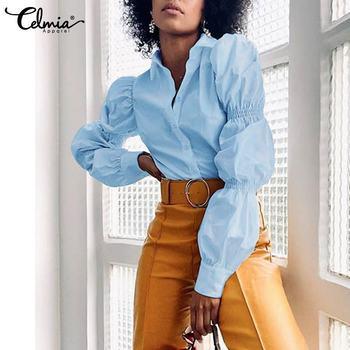 Chic Long Lantern Sleeve Blouse 1