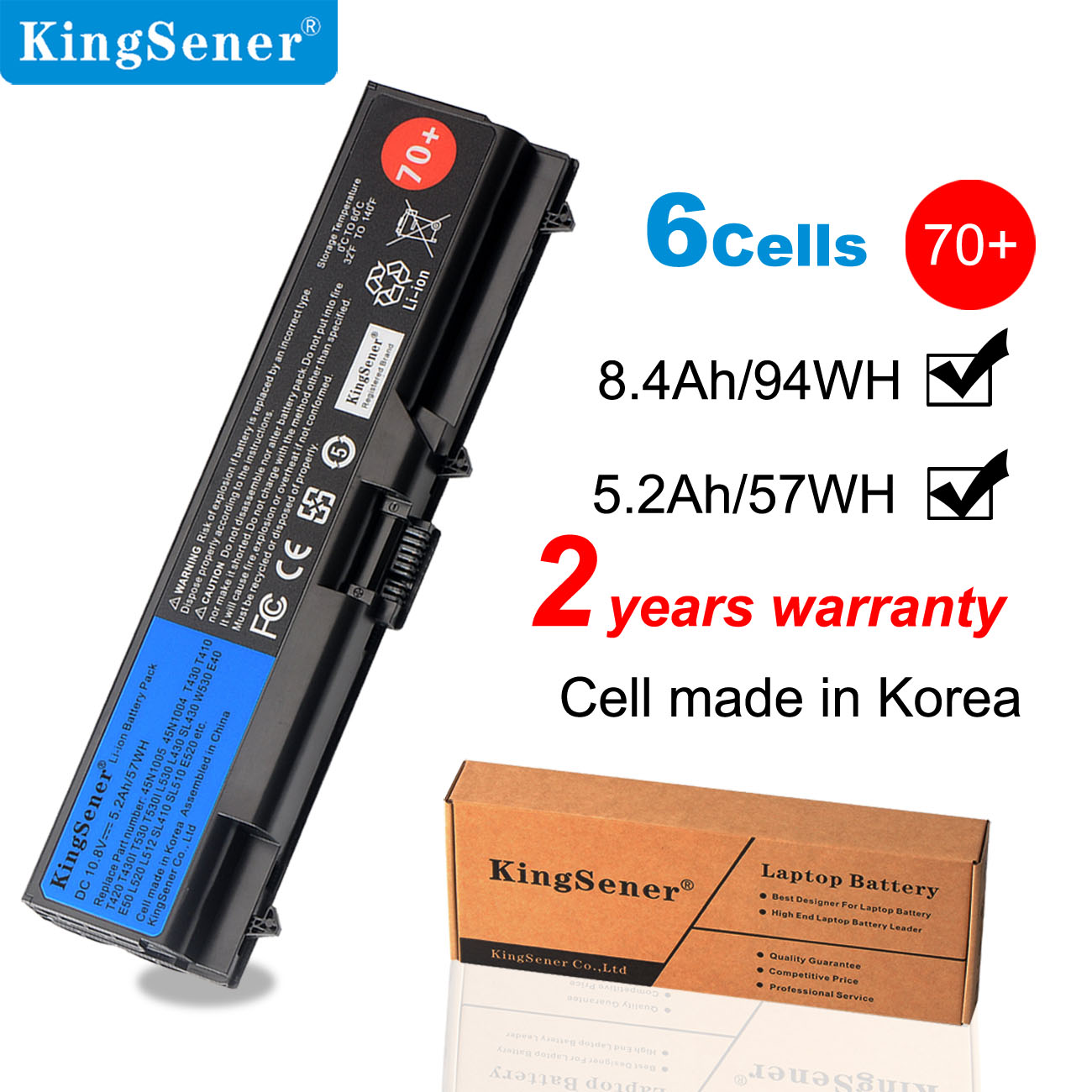 Аккумулятор KingSener 10,8 В 5200 мАч для ноутбука Lenovo ThinkPad T430 T430I L430 T530 T530I L530 W530 45N1005 45N1004 45N1001 45N1000|laptop battery for lenovo|laptop batterybattery for lenovo laptop | АлиЭкспресс