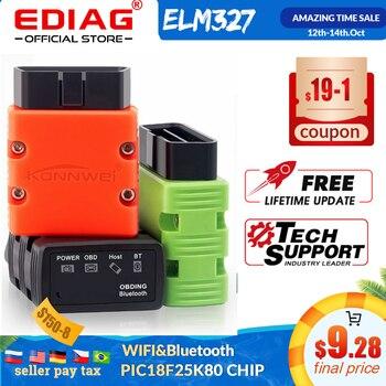 ELM327 V1.5 OBD2 Scanner KW902/P02 Bluetooth/WIFI PIC18f25k80 MINI ELM 327 OBDII KW902 Code Reader for Android Phone