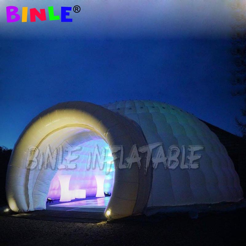 10m giant outdoor inflatable dome tent advertising snow igloo commercial event tent exhibition LED wedding tent for sale