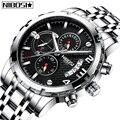 NIBOSI Relogio Masculino Herren Uhren Mode Top Marke Luxus Quarzuhr Männer Voller Stahl Wasserdicht Sport Business Männer Uhr