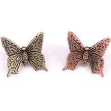 1 шт антикварных бронзовых морских звезд бабочек ручки для шкафа