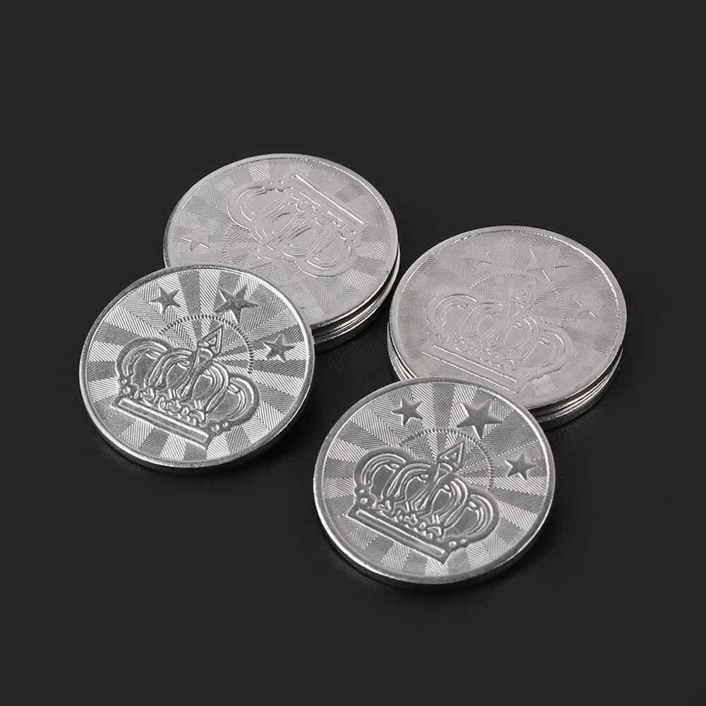 10 stuks 25*2mm Game Token Rvs Arcade Game Coin Pentagram Crown Tokens
