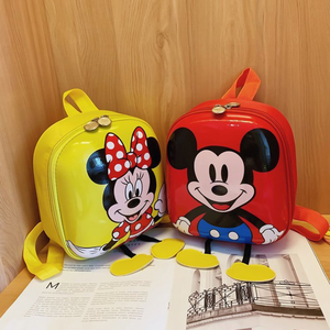 Disney backpack 3D mochila escolar Minnie Mickey Kindergarten EVA Schoolbag Hard Shell Backpack Cartoon Lovely Kids