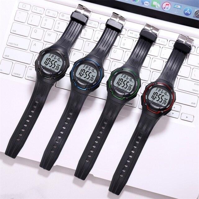 Synoke chronograph men relógios digital esporte 3bar resistente a choques repetidor acrílico volta luz moda simples homem relógio de pulso 6