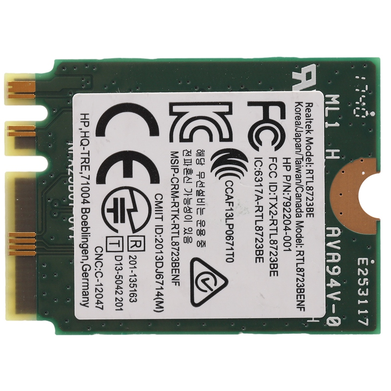 Wireless Adapter For Realtek RTL8723BE 802.11N WiFi Card Bluetooth 4.0 NGFF Card SPS 843338-001 300Mbps