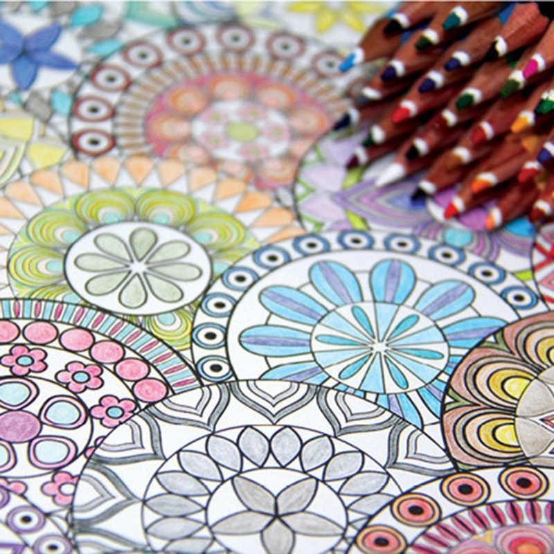 Libro de colorear de flor de mandala coreano de 120 páginas para niños y adultos, Graffiti en Relieve para estrés, libro de dibujo artístico, papelería