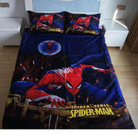 Spiderman Avengers Heros Princess Pattern Bedclothes Sheet with Ruffles Pillowcase Cartoon Flatsheet Children Boys bedding sets