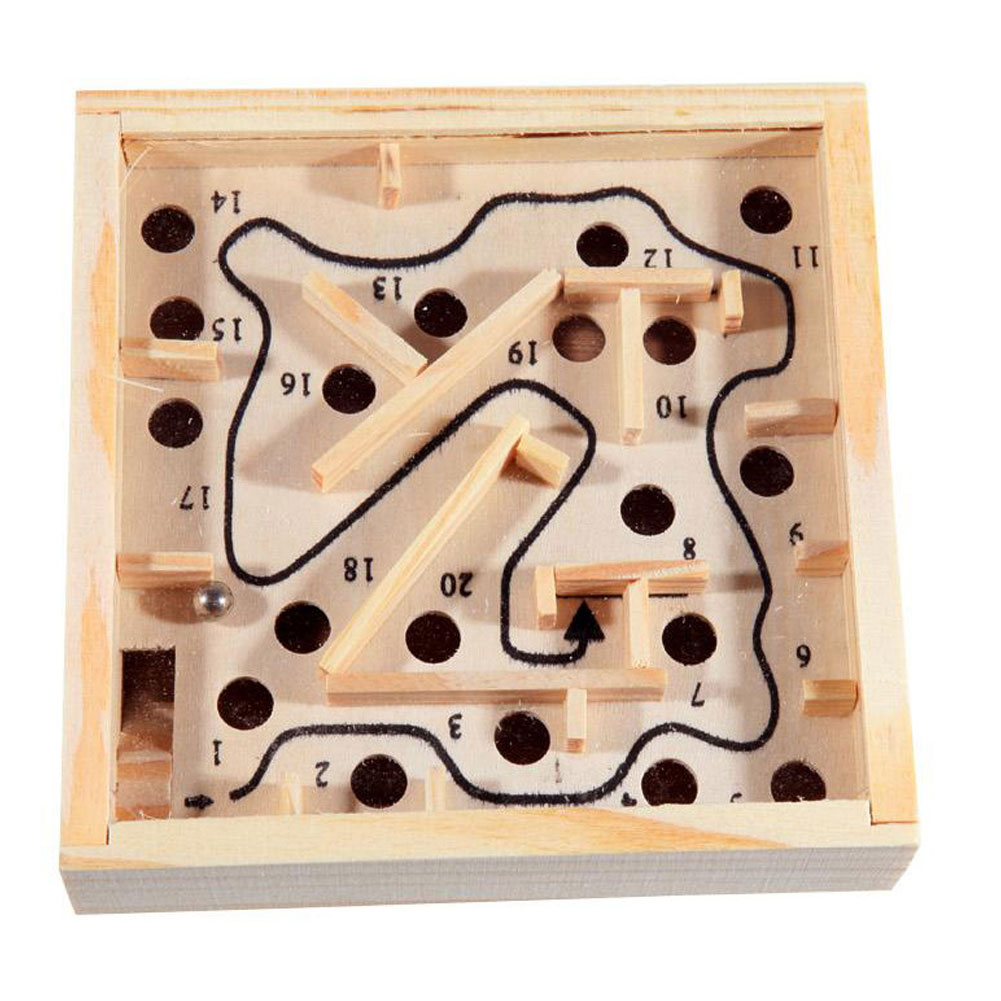 Ball Maze Puzzle Game Balance Board Wooden Table Maze Ball Beads Labyrinth Game Toy For Kids And Adults